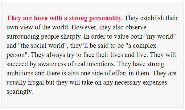 Tell basic character