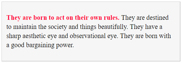 Tell hidden personality