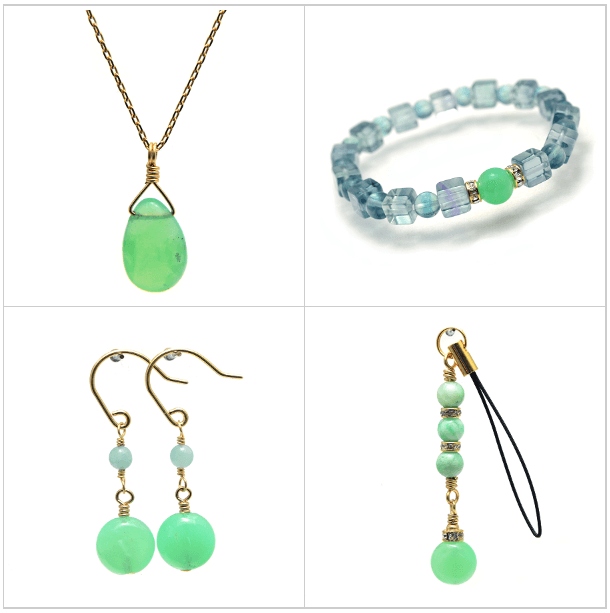 Chrysoprase jewelry
